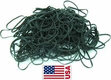 "Usa Bulk Black High Heat Uv #32 Angler Fishing Rubber Bands - Black 3"" x 1/8"