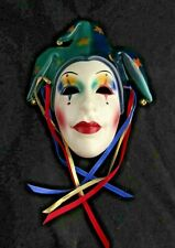 Vintage Art Pottery Wall Hanging Mask- Clay Art San Francisco- Court Jester