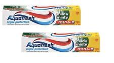 2X Aquafresh Mild & Minty Toothpaste 24 Hours Triple Protection 125 ml 3.5 oz
