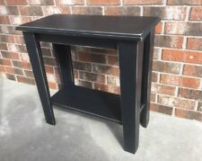 Hand Crafted Rustic Black End Table