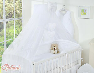 NEW BIG WHITE DRAPE CANOPY MOSQUITO NET 460x170cm +- HOLDER ROD BABY COT COT BED