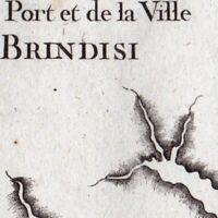 Carte Géographique XVIIIe Brindisi Puglia Brindes Italie Μπρίντιζι Бриндізі 1764
