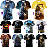 Women Men T-Shirt 3D Print Short Sleeve Tops Movie Mortal Kombat Plus Size Tees