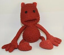 """Virgin Media character RED plush stuffed doll toy 11"""" tall knitted promotional"""