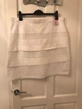 TU White Lace Trim Skirt 18