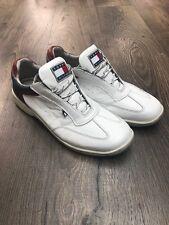 Zapatos Para Hombre Tommy Hilfiger Cuero Blanco Entrenadores-Size UK 9