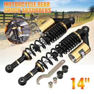14'' 360mm Motorcycle Rear Shock Absorber Air Suspension For Honda/Suzuki AU