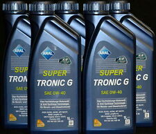 10x1 Liter Aral Super Tronic G 0W-40 Motoröl 0W40 MB 229.5  BMW Longlife-01