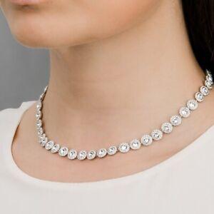 Swarovsk Angelic Inspired Tennis 3pc Necklace Earrings Bracelet Rhodium Bridal