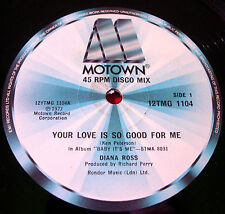 "Diana Ross Your Love Is So Good For Me 12""UK ORIG 1977 Motown Baby It's Me VINYL"