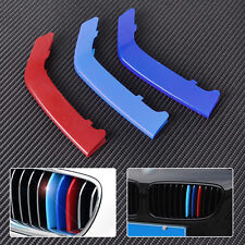 M Color 3D Plastic Kidney Grill Cover Strip Bar Trim For BMW 3 Series F30
