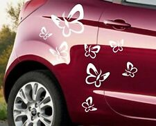 Auto Aufkleber 16 Stck. Schmetterling Sticker Tuning Folie Decal Pink