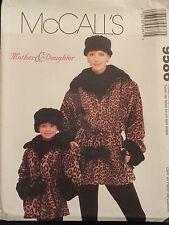 Oop McCalls 9586 Mother/Daughter Lined Jacket & Headband Pattern 4-22/3-12 Uc