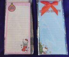 Hello Kitty Magnetic List Pad 60 Sheets Blue & Pink Christmas Set of 2 New!!!