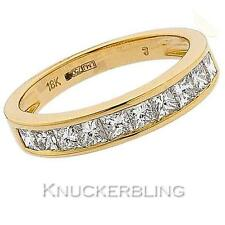 Genuine Diamond Wedding Eternity Ring 1.00ct F VS Princess Cut set in 18ct Gold