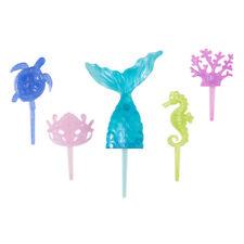 1 Mystical Mermaid Tail Sea Life Decoset Cake Topper Party Decoration 5 Pc Set