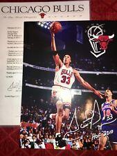Scottie Pippen Chicago Bulls NBA basketball HOF photo PIC w/RP autograph +letter