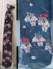 Cartoon Character Mutt Baseball Boys 14inch clipon Tie - black polyester New