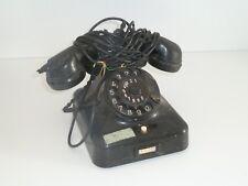 Altes TELEFON - schwarz Wählscheibe Bakelit - 50er Jahre