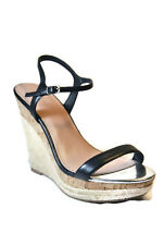 Charles by Charles David Alabama Leather Women's Wedge Sandal Shoes,Black,Sz:11M