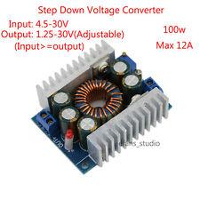 100W DC-DC Buck Step-down Converter Module 4.5-30V to 0.8-30V 12A Laptop LED Car