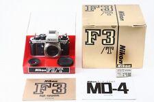 C013-831***Near Mint++***Nikon F3T 35mm SLR Camera Silver Body in Box from Japan
