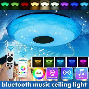 RGB LED Deckenlampe mit Bluetooth Musik Lautsprecher APP Fernbedienung Dimmable