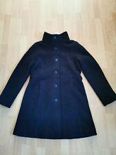 SEASALT CORNWALL Falmouth Dawn Coat wool In BLACK Size uk 10 bnwt