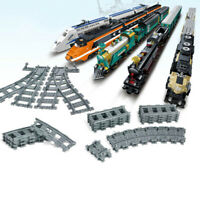 10Pcs trains track rail straight & curved rails building set bricks model toysCH