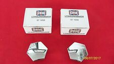 1964-67 TRIUMPH BSA MOTORCYCLES 500 650 CHROME FORK TOP NUTS 97-1658C UK MADE