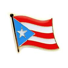 "PUERTO RICO FLAG LAPEL PIN 0.5"" Puerto Rican Pinback Tie Hat Country NEW Small"