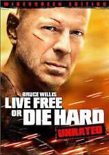 Die Hard 4: Live Free or Die Hard (Dvd, 2007, Unrated Widescreen Single-Disc.