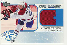 2005-06 UPPER DECK ICE ALEXANDER PEREZHOGIN JERSEY COOL THREADS CANADIENS