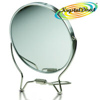Comby Double Sided Magnifying Shaving Makeup Mirror 2x Magnification 11.5cm