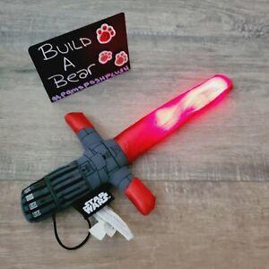 Build A Bear Red Lightsaber Star Wars Wristie Plush EUC