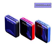 20000mAh Mini Dual USB Power Bank Ultra Thin External Battery Backup Charger