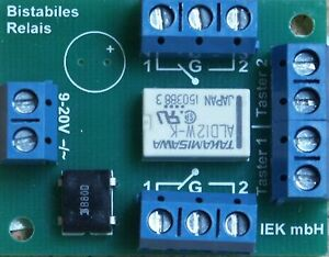 Relaisplatine, Universal Fernschalter, Relais bistabil, bistabiles Relais 2 x UM