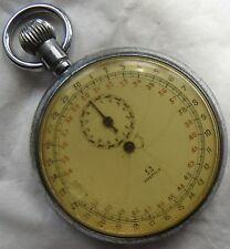 Omega Stop Watch Open Face Nickel Chromiun Case 50 mm in diameter cal 40.1 Sport