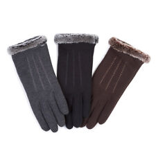 Isotoner Ladies Thermal Glove With Fur Cuff & Stitching