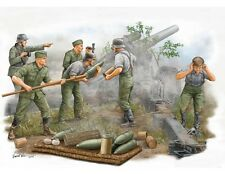 German Field Howitzer Gun Crew Figure 1:35 Plastic Model Kit TRUMPETER