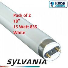 X2 SYLVANIA 18 Inch 15w 15 Watt 835 White Tube T8 F15/835 Blub 438 Mm