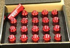 RDT OPEN END RED 60MM ALUMINUM M12X1.5MM EXTENDED TUNER LUG NUTS FOR INTEGRA