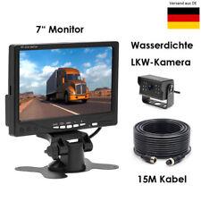 """4Pin Rückfahrkamera Wasserdich Nachtsicht 15M Kabel 7"""" Monitor für Wohnmobil Bus"""