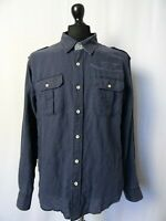 Men's Vintage NAPAPIJRI Linen Cotton Long Sleeve Shirt Size XL