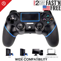 Wireless Controller Gamepad for Playstation 4 Pro/Slim, PC, PS SmartTvs Black
