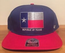 748ae2919c3de Republic of Texas Rangers MLB  47 Captain Snapback Cap Hat Flat Bill Brim  Flag