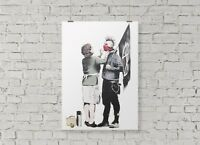 Banksy Graffiti Punk Anarchist & Mother Poster Picture Print Wall Art A2 Size