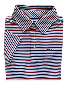VINEYARD VINES Boys Performance Polo Shirt Bradley Stripe Sankaty NWT SIZE 5