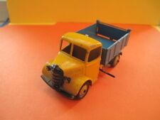 VINTAGE DINKY : BEDFORD TIPPER DUMP TRUCK (Meccano Ltd. blue/yellow # 025M /1:43
