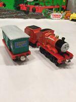 Thomas the Train Diecast Take Along Sodor Mining Co. Box Car And James & Tender